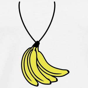 Bananas Necklace T-shirts - Herre premium T-shirt