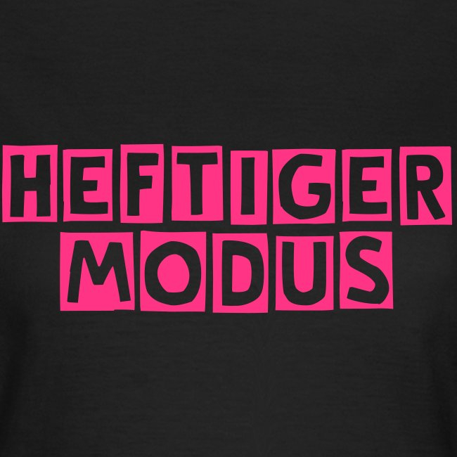 HEFTIGER MODUS-Shirt Girly pink, BC-Logo back white