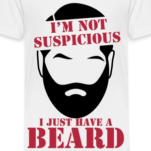 I'm not SUSPICIOUS I just have a BEARD! Shirts - Kids' Premium T-Shirt