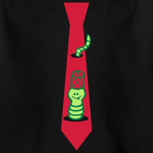Tie with worm - Kids' T-Shirt