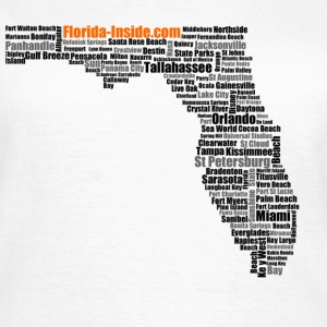 T-Shirt mit Florida Word Cloud - Frauen T-Shirt