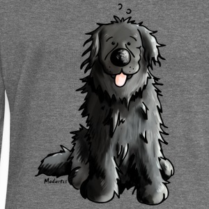 Newfoundland - Dog - Dogs - Newfi - Newf - Cartoon Hoodies & Sweatshirts - Women's Boat Neck Long Sleeve Top