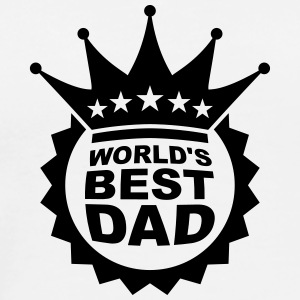 Worlds Best Dad Logo T-shirts - Premium-T-shirt herr