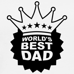 Worlds Best Dad T-shirts - Premium-T-shirt herr