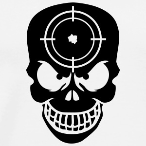 Evil Skull With Target T-shirts - Mannen Premium T-shirt