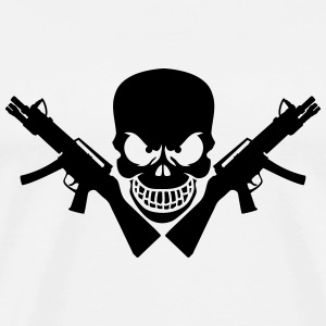 Assault Rifle Gun Skull T-shirts - Herre premium T-shirt