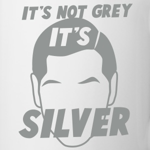 IT's not GREY it's SILVER Fox male man dad Bottles & Mugs - Mug