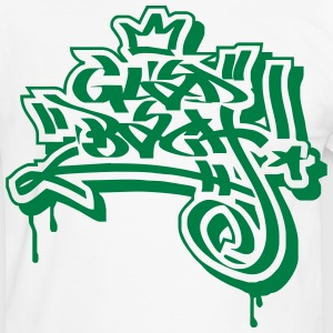 Gladbach Graffiti Ultras Fan Shirt - Männer Kontrast-T-Shirt
