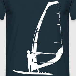 Man on a Windsurf race board Tee shirts - T-shirt Homme