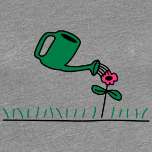 Watering Flower T-Shirts - Frauen Premium T-Shirt
