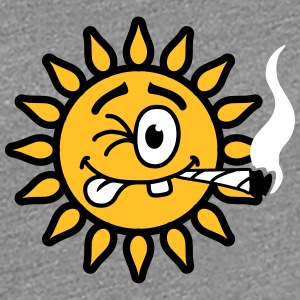Funny Joint Smoking Sun T-shirts - Vrouwen Premium T-shirt