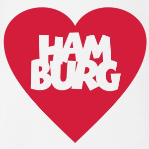 I love Hamburg Babybody - Baby Bio-Kurzarm-Body