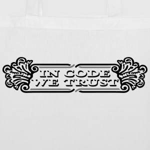 In code we trust dollar Tote Bag - Stoffbeutel