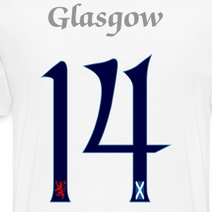 Scotland number 14 saltire lion T-Shirts - Men's Premium T-Shirt