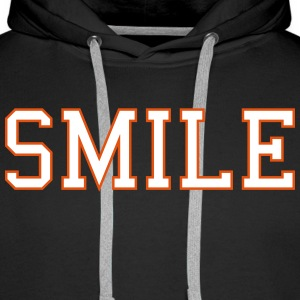 smile Sweat-shirts - Sweat-shirt à capuche Premium pour hommes