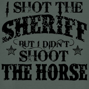 I Shot The Sheriff, But Not The Horse - Black T-Shirts - Men's Organic T-shirt