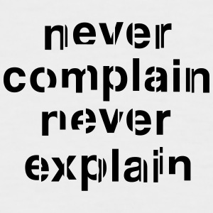 Never complain never explain baseball shirt - Men's Baseball T-Shirt