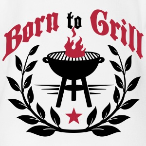 Born to Grill Shirts - Organic Short-sleeved Baby Bodysuit