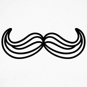 moustache traits Tee shirts manches longues - T-shirt baseball manches longues Homme