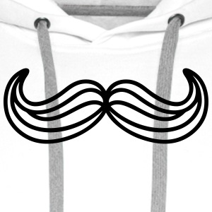 moustache traits Sweat-shirts - Sweat-shirt à capuche Premium pour hommes