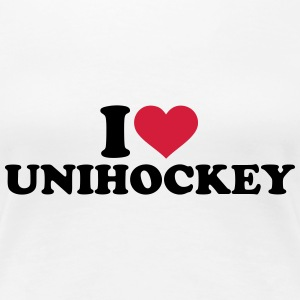 I love Unihockey T-Shirts - Frauen Premium T-Shirt