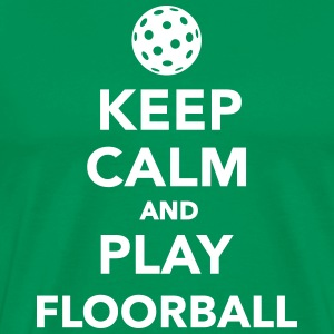 Keep calm and play Floorball T-Shirts - Männer Premium T-Shirt
