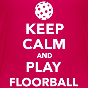 Keep calm and play Floorball T-Shirts - Kinder Premium T-Shirt