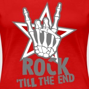 rock 'till the end star T-shirts - Vrouwen Premium T-shirt
