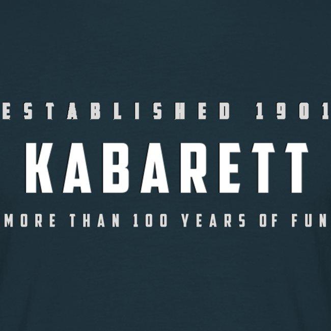"""Herren T-Shirt """"Kabarett established 1901"""""""