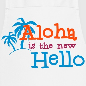 Aloha is the new Hello 3c  Aprons - Cooking Apron