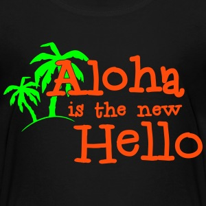 Aloha is the new hello! 2c Skjorter - Premium T-skjorte for tenåringer
