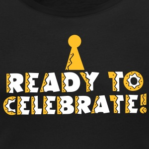 READY TO CELEBRATE! with party hat! T-Shirts - Women's Scoop Neck T-Shirt