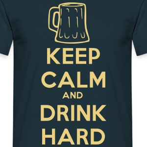 keep_calm_and_drink_hard T-skjorter - T-skjorte for menn