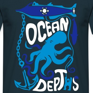 Nautilus and Octopus - Ocean Dephts - Men's T-Shirt