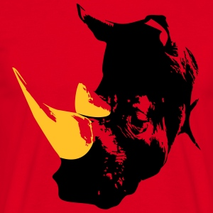 Rhino head  T-shirts - Mannen T-shirt