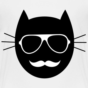 Moustache - Glasses - Cat Shirts - Kids' Premium T-Shirt