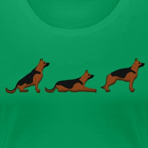 sit down stay german shepherd Tee shirts - T-shirt Premium Femme