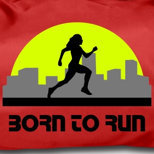 woman running, run, city run, skyline - Duffel Bag