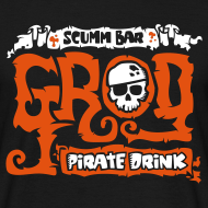 Diseño ~ Monkey Island: Scumm Bar Grog (+ Recipe on back)