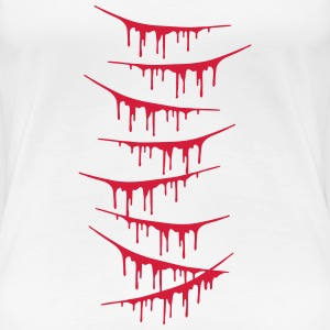 Scratch Wounds Design Tee shirts - T-shirt Premium Femme