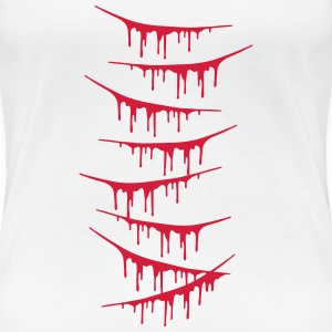 Scratch Wounds Design T-Shirts - Frauen Premium T-Shirt