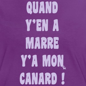 quand y en a marre y a mon canard by dk Tee shirts - T-shirt contraste Femme