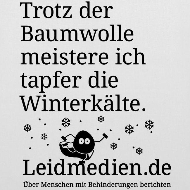 """Jutebeutel """"Winterkälte"""", weiß"""