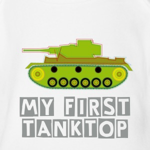 Babybody - my first Tanktop - Baby Bio-Kurzarm-Body