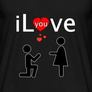 i Love you T-shirts - Herre-T-shirt