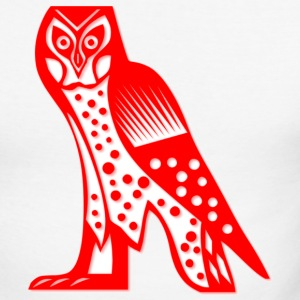 White/red owl1 Long sleeve shirts - Men's Long Sleeve Baseball T-Shirt