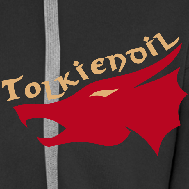 Dragons Tolkiendil Rouge Beige Flocage Recto/Verso Sweat Zippé Homme