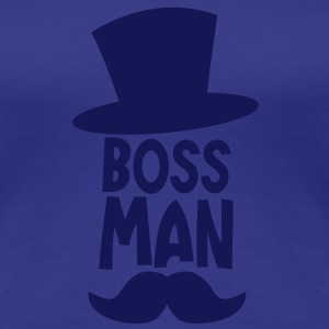 boss man with a top hat and a ye olde moustache T-Shirts - Women's Premium T-Shirt
