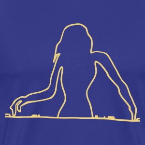 Bendy DJ on some decks - Men's Premium T-Shirt