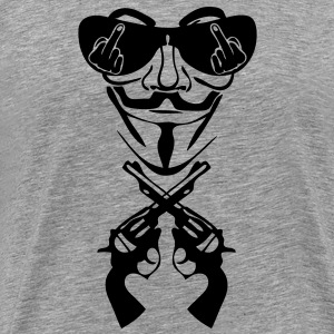 anonymous masque mask lunette fuck pist9 Tee shirts - T-shirt Premium Homme